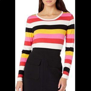 BB Dakota Colorful rainbow crew neck Sweater sz S